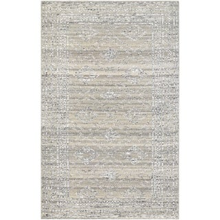 Hand-Knotted Couristan Casbah Sirsi/Grey-Natural Undyed Wool Rug (5'6 x 8')