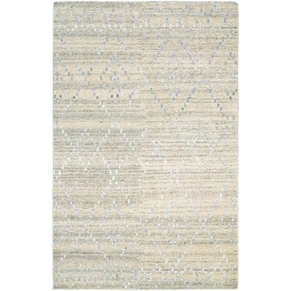 Couristan Casbah Sikar/Natural-Ivory Wool Area Rug - 5'6 x 8'