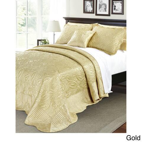 Serenta Quilted Satin 4-piece Bedspread Set