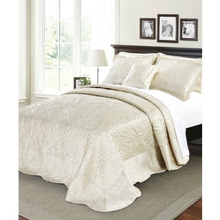Serenta Quilted Satin 4-piece Bedspread Set