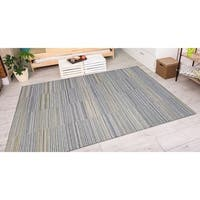 "Vector Cannon Ivory-Charcoal Indoor/Outdoor Area Rug - 6'6"" x 9'6"""