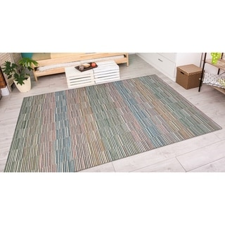 Power-Loomed Couristan Cape Fayston/Multi Indoor/Outdoor Rug (6'6 x 9'6)