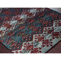 Hand-Knotted Immanuel Grey Saree Silk Rug - 2' x 3'
