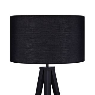 Romanza Matte Black Tripod Floor Lamp with Black Shade (60.23 inches)|https://ak1.ostkcdn.com/images/products/11607846/P18545435.jpg?impolicy=medium