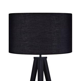 Link to Versanora - Romanza Tripod Floor Lamp With Black Shade Similar Items in Floor Lamps