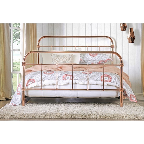 Furniture of America Melly Rose Gold Metal Bed - Free Shipping Today -  Overstock.com - 18545430
