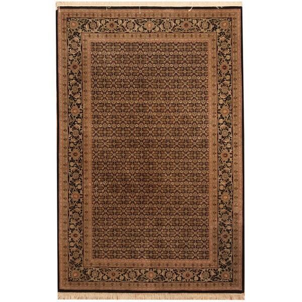 Herat Oriental Indo Hand-knotted Tabriz Wool Rug (4'1 x 6'4)