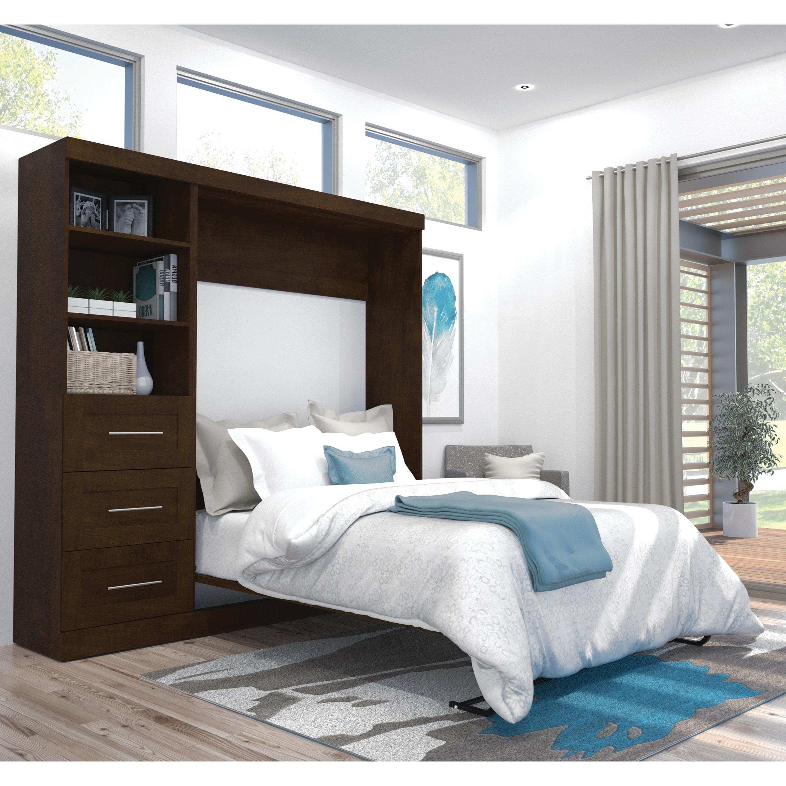 Shop Pur By Bestar 84 Inch Full Size Wall Bed Kit On Sale Overstock 11607891