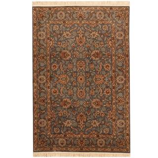 Herat Oriental Pakistani Hand-knotted Tabriz Wool Rug (4' x 6')