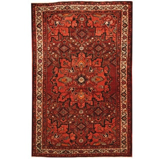 Herat Oriental Persian Hand-knotted Tribal 1960s Semi-antique Bakhtiari Wool Rug (4'3 x 6'6)