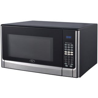 Oster OGYZ1604VS 1.6 Cubic Foot Black and Stainless Steel Microwave