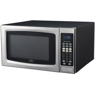 Oster OGZE1304S 1.3 Cubic Foot Black and Stainless Steel Microwave