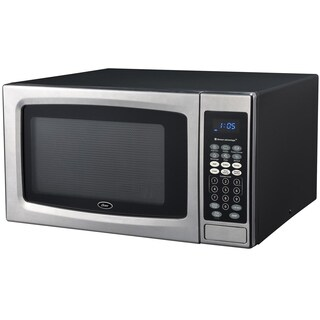 Oster OGZE1304S 1.3 Cubic Foot Black and Stainless Steel Digital Microwave Oven