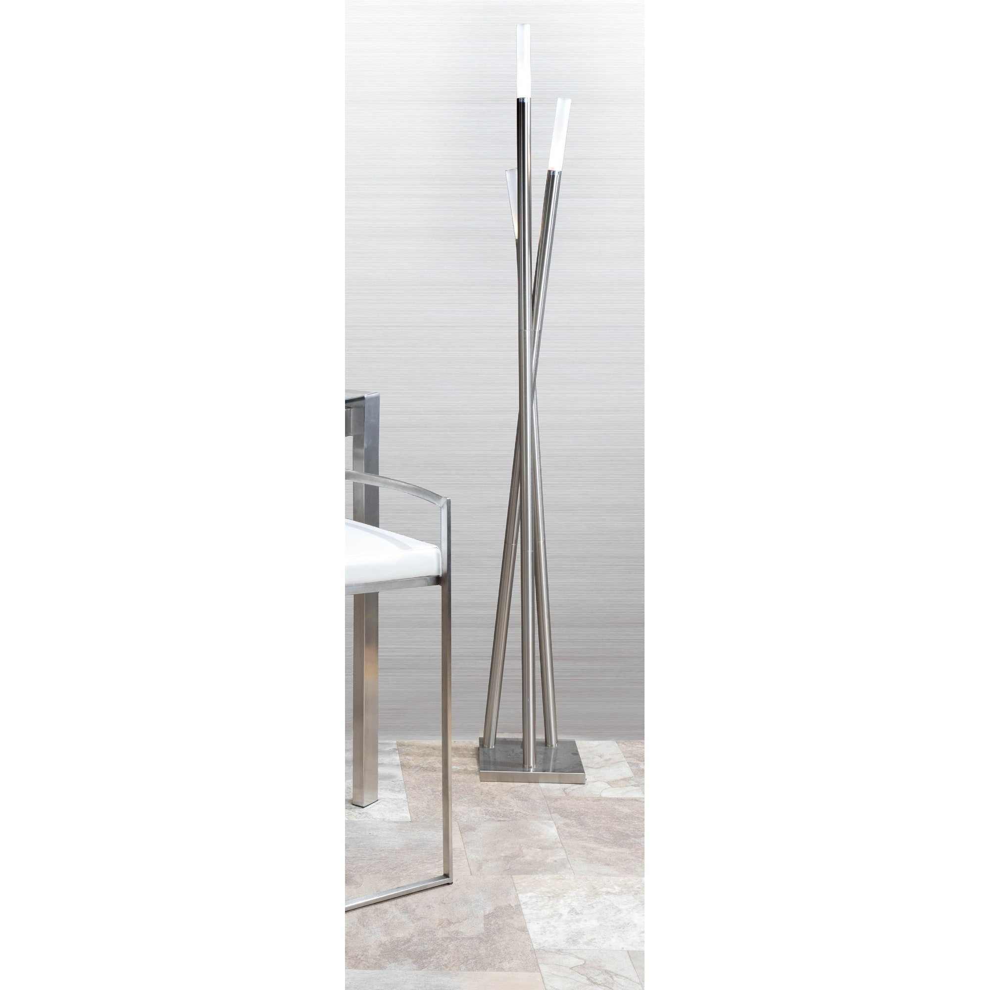 Strick Bolton Peale Brushed Nickel Icicle Floor Lamp Free Shipping Today 23122884