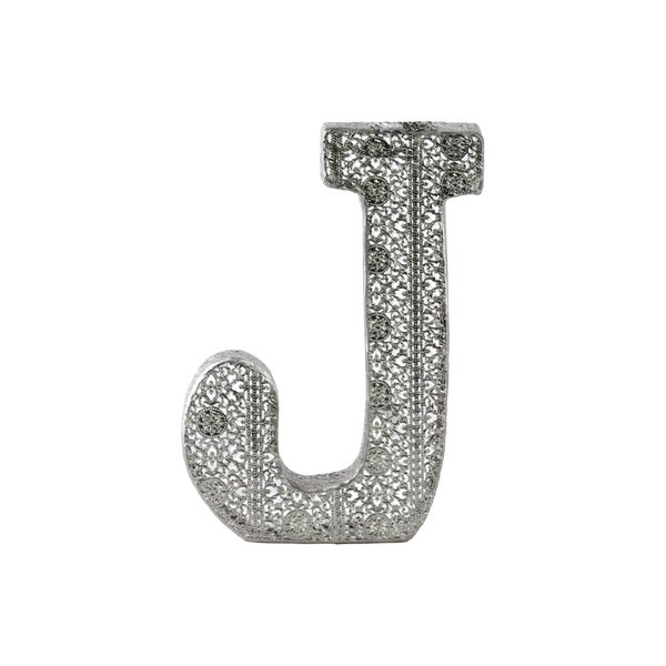 Metal Letter J Wall Decor