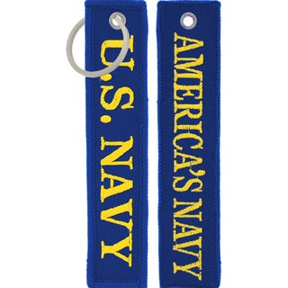 US Navy America's Navy Keychain/ Luggage Tag