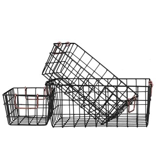 Metal Rectangular Wire Basket (Set of Three)