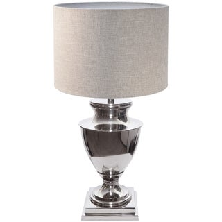 Lena 31 Inch Urn Shaped Nickel Table Lamp