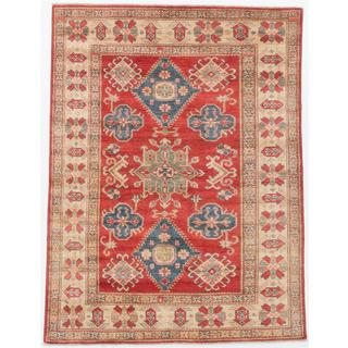 ecarpetgallery Hand-Knotted Finest Gazni Red Wool Rug (5'3 x 6'9)