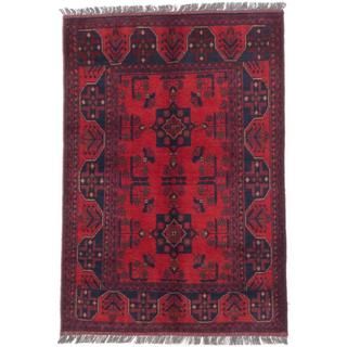 ecarpetgallery Hand-Knotted Finest Khal Mohammadi Red Wool Rug (3'5 x 4'11)