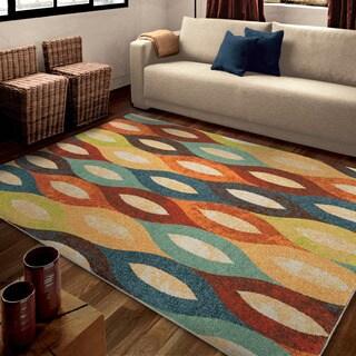 """Carolina Weavers Bright Color Hemel Multi Area Rug (7'10"""" x 10'10"""")"""