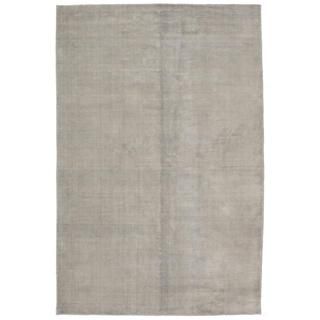 ecarpetgallery Hand-Knotted Shimmer Grey Wool Art Silk Rug (6'0 x 9'1)