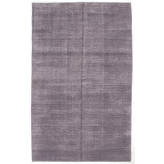 ecarpetgallery Hand-Knotted Shimmer Purple Art Silk Rug (6'0 x 9'0)