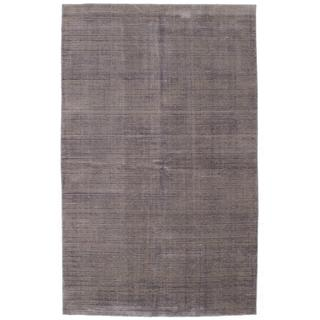 ecarpetgallery Hand-Knotted Shimmer Purple Wool Art Silk Rug (6'0 x 9'0)