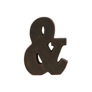 Fiberstone Oil-Rubbed Bronze Ampersand Tabletop Decor