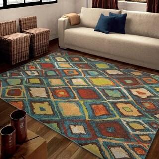 Carolina Weavers Brighton Collection Vivid Sketch Blue Area Rug (7'10 x 10'10)