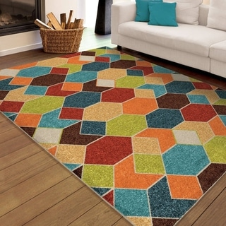 "Carolina Weavers Indoor/Outdoor Geo Parade Multi Area Rug (7'8"" x 10'10"")"
