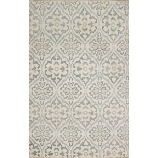 ecarpetgallery Hand-Knotted Ushak Beige Wool Rug (4'11 x 7'9)
