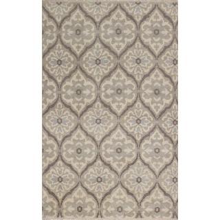 ecarpetgallery Hand-Knotted Ushak Beige, Grey Wool Rug (4'11 x 7'11)