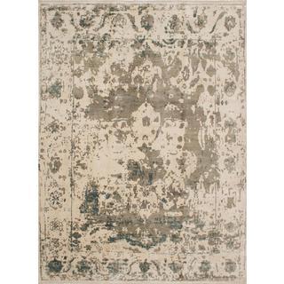 ecarpetgallery Hand-Knotted Jules Ushak Beige Art Silk Rug (8'10 x 12'0)