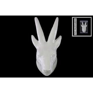 Ceramic Antelope Head Wall Decor