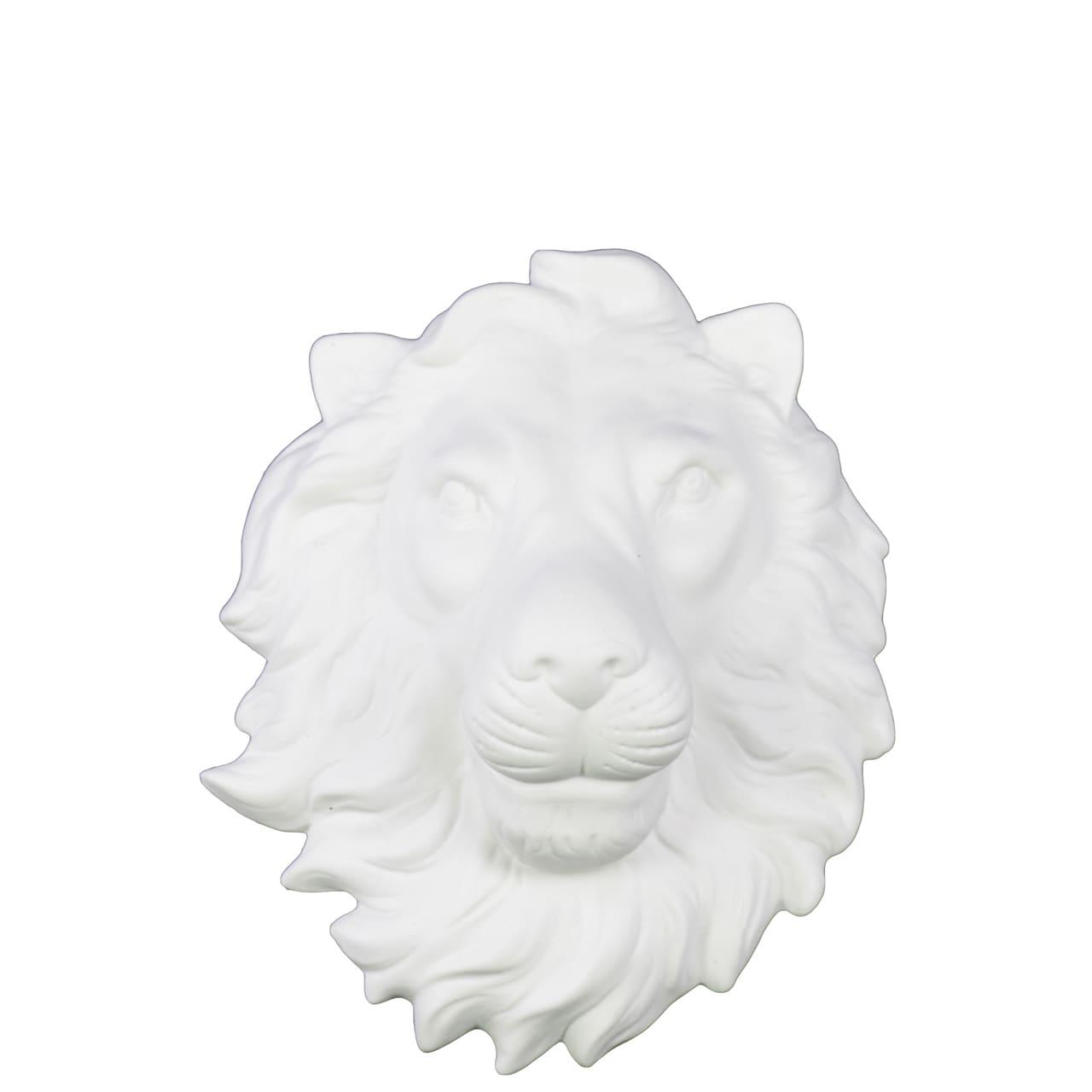 Urban Trends Collection Ceramic Lion Head Wall Decor Matt...