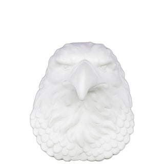 Ceramic Eagle Head Wall Decor Matte Finish White