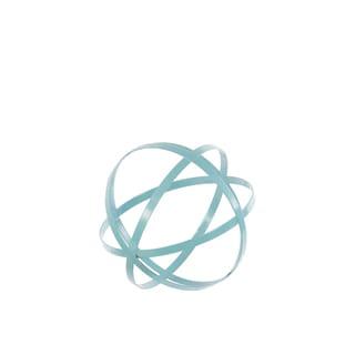 Small Cyan Metal Sphere Decor