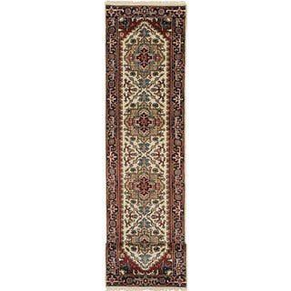 ecarpetgallery Hand-Knotted Serapi Heritage Beige Wool Rug (2'7 x 12'1)|https://ak1.ostkcdn.com/images/products/11608318/P18545893.jpg?impolicy=medium