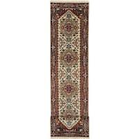 ecarpetgallery Hand-Knotted Serapi Heritage Beige Wool Rug (2'7 x 12'1)
