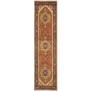 ecarpetgallery Hand-Knotted Serapi Heritage Orange Wool Rug (2'6 x 10'3)