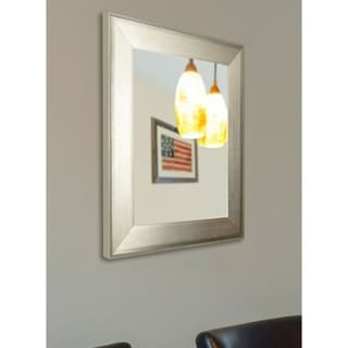 American Made Rayne Brushed Silver Vanity Wall Mirror