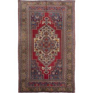 ecarpetgallery Hand-Knotted Anatolian Vintage Red Wool Rug (6'9 x 11'0)