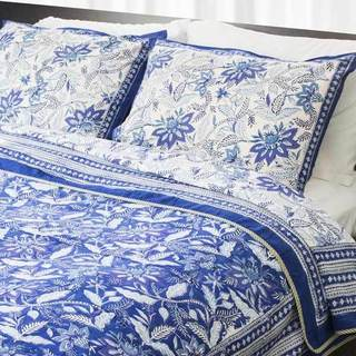 Handmade Dreams in India Indigo Vine King-size Coverlet Set (India)