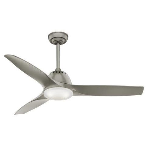"Casablanca 52"" Wisp Ceiling Fan with LED Light Kit and Handheld Remote - Pewter"
