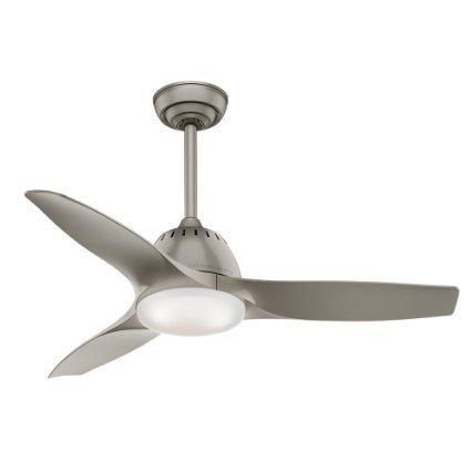 Casablanca Fan Wisp 44-inch Pewter with 3 Pewter Blades - Grey