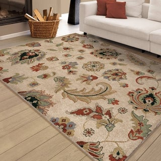 Carolina Weavers Brilliance Collection Field of Hope Beige Area Rug (7'10 x 10'10)