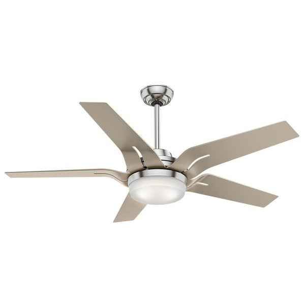Casablanca Fan Correne 56-inch Brushed Nickel with 5 Champagne Blades - Silver