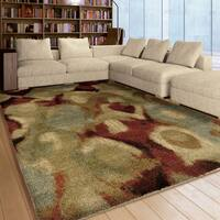 "Carolina Weavers Grand Comfort Collection Brumo Fade Multi Shag Area Rug - 7'10"" x 10'10"""