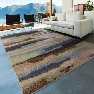 Carolina Weavers Grand Comfort Collection Cracked Sky Multi Area Rug (7'10 x 10'10)